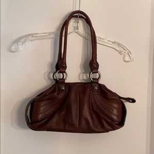 B Makowsky brown pebbled leather purse casual bag